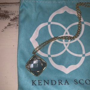 Kendra Scott Slate and gold necklace
